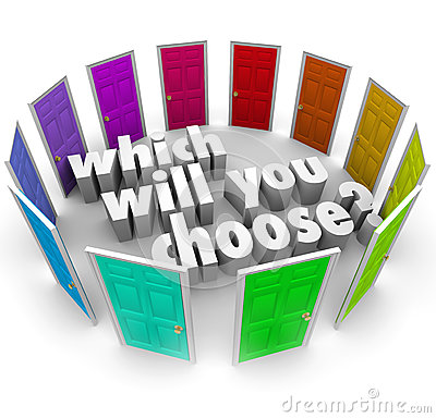 Which Will You Choose Many Doors Paths Opportunities