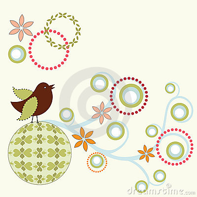Whimiscal bird