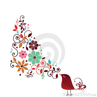 Free Whimisical Bird Singing Royalty Free Stock Image - 12736636