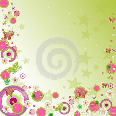 Whimsical Funky Background Design Stock Photography Image 3403722