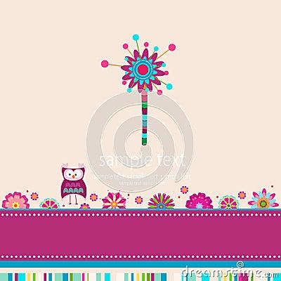 Whimsy flower background