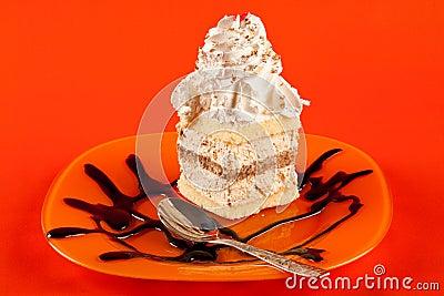 Whipped cream dessert
