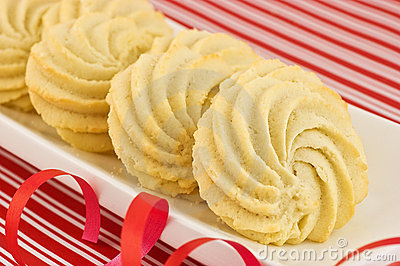Whipped shortbread pinwheels
