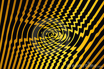 Whirl Pool of Spiralling Danger (Black and Yellow)