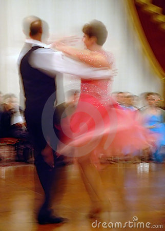 Whirling Ballroom Dancers