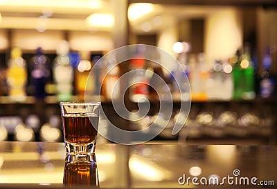 Whiskey at bar