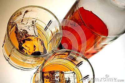 Whiskey Bottle & Glasses
