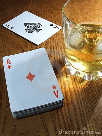 Whiskey and cards