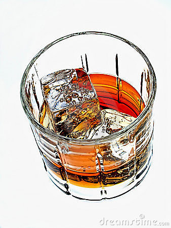 Whiskey  Glass Abstract