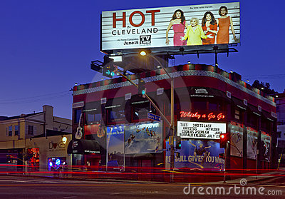 Whiskey A Go Go on the Sunset strip in Los Angeles Editorial Stock Image