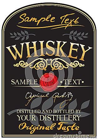Free Whiskey Label Stock Photo - 23790050