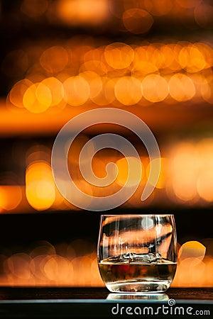 Free Whiskey On Wood Bar Stock Image - 42727941