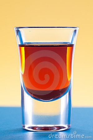 Whiskey in shot glass