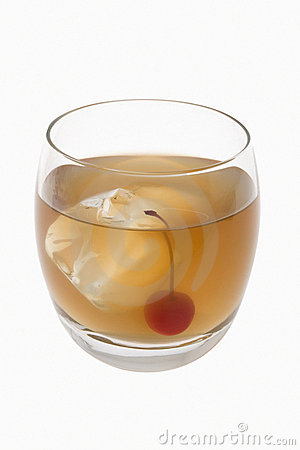 Whiskey Sour Cocktail On A White Background Royalty Free Stock ...