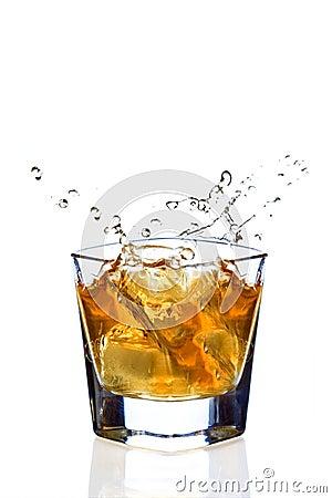 Free Whiskey Splash Stock Image - 2116321