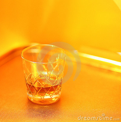Whiskey and whisky glass