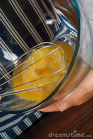 Whisking egg mixture