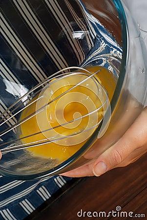 Whisking egg mixture
