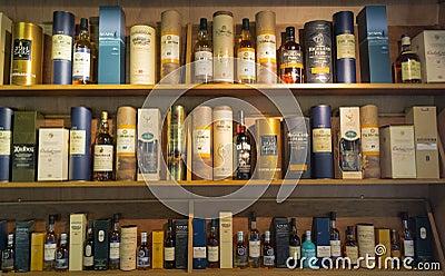 Whisky Bottles Editorial Stock Image