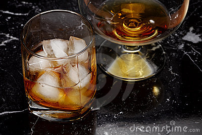 Whisky and brandy