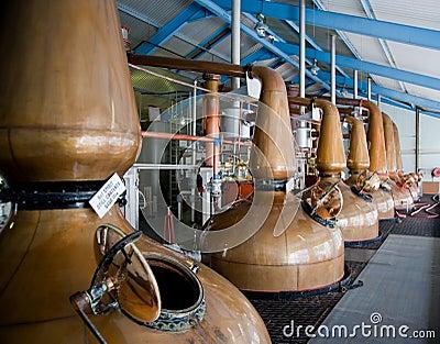Whisky distillery stills