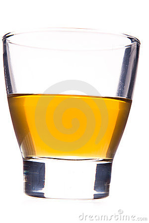 Whisky glass isolated