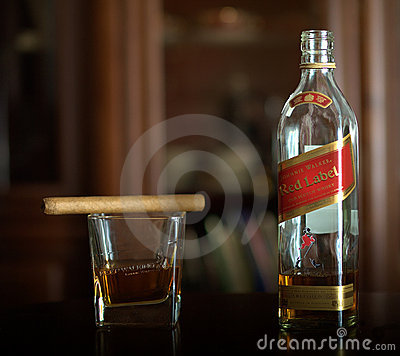 Whisky Johnnie Walker Editorial Stock Image