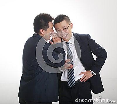 Whisper from businessman