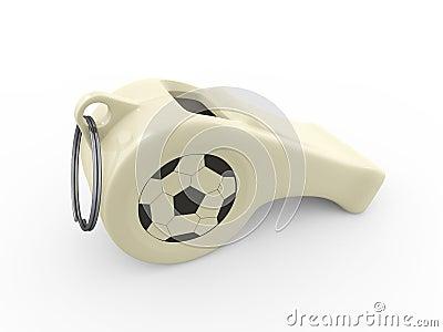 Whistle Football Soccer Logo