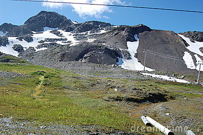 Whistler mountain top in September