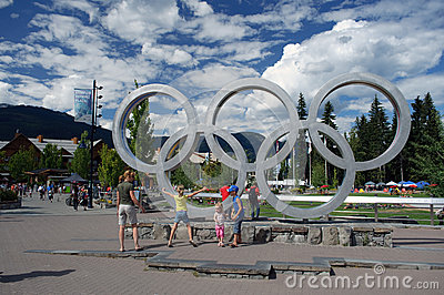 Whistler Olympic Plaza Editorial Image