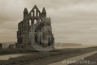 Whitby Abbey Overlooking Bay