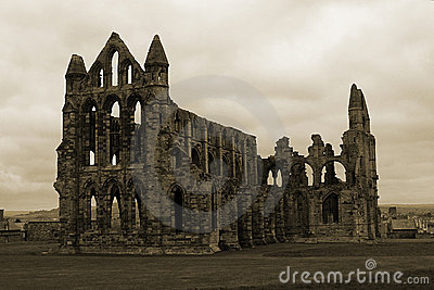 Whitby Abbey in Sepia