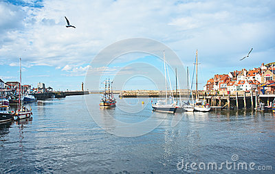 Whitby harbor, East Yorkshire Editorial Photo