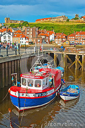 Whitby harbor, East Yorkshire Editorial Photography