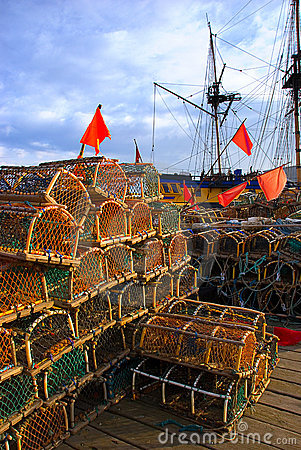 Free Whitby Lobster Pots Stock Photography - 4975412