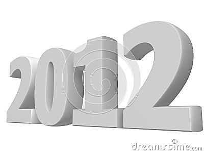 White 3D 2012 text
