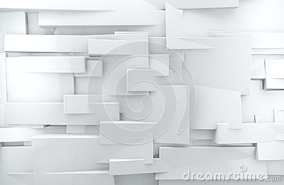 White 3d abstract background