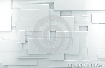 White 3d abstract wall background