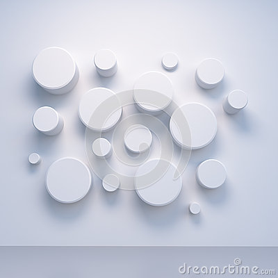 Free White 3d Cilinder Wall Pattern Royalty Free Stock Photos - 30238398