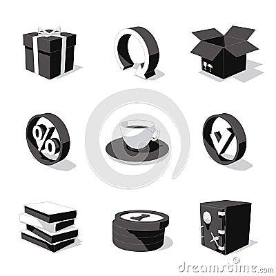 Free White 3D Icon Set 04 Stock Photo - 3092770