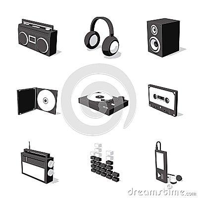 Free White 3D Icon Set 07 Stock Photography - 3092782