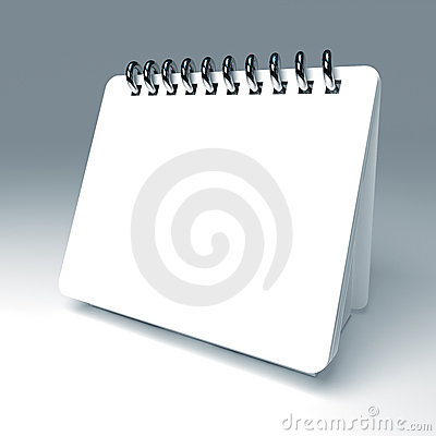 White 3d notepad