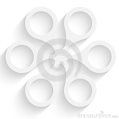 White abstract object