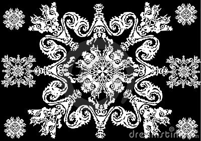 White abstract star shape decoration