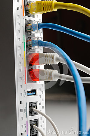 Free White Adsl Router Connections Royalty Free Stock Photography - 40024957