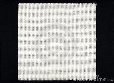 White Aida cloth canvas