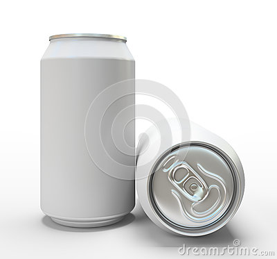 Free White Alluminium Cans On White Background Royalty Free Stock Images - 33360919