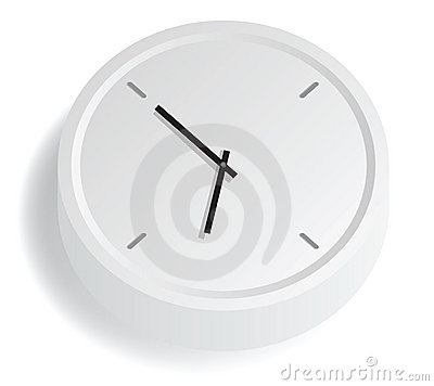 White Analog Clock