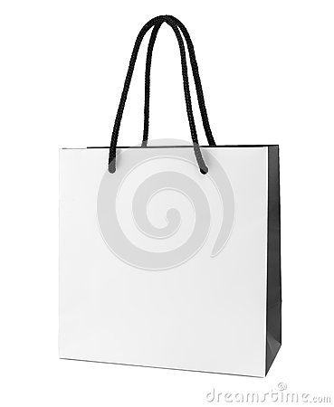 Free White And Black Paper Shopping Bag Royalty Free Stock Photo - 59093695